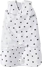 HALO Sleepsack Swaddle Micro Fleece - Mini Stars Charcoal, Size SM