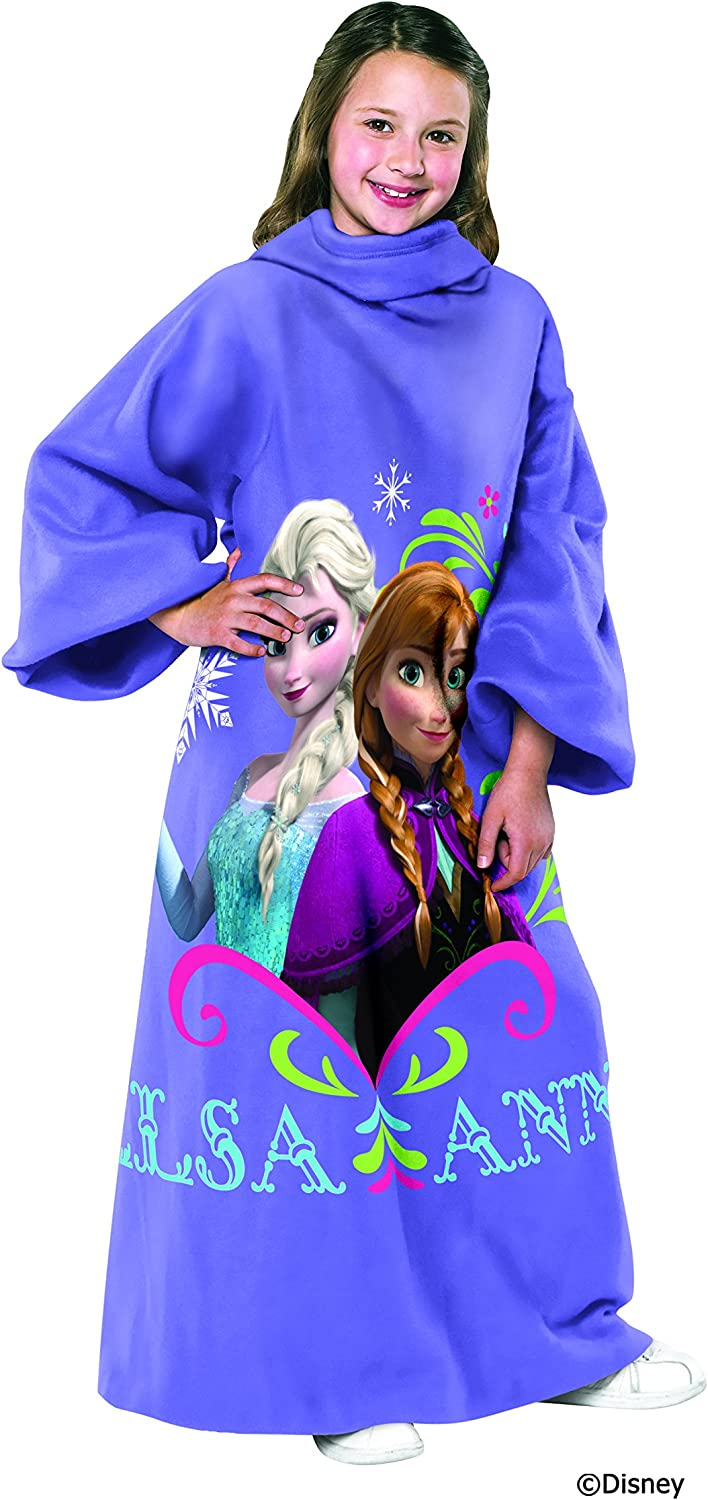 Disney's Frozen, Sisters Youth Comfy Throw Blanket with Sleeves, 48  x 48 , Multi color