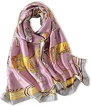 Women's Silk Feeling Scraf Ladies Summer Long Shawl Wrap Female Silk Like Scarves Hijab