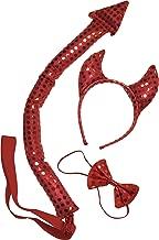 Kangaroo's Sequin Devil Costume, Red, Size Adult