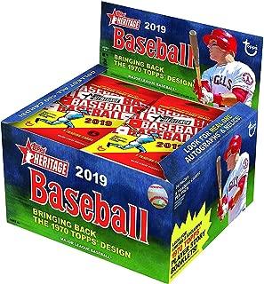Topps 2019 Heritage Baseball Retail Box (24 Packs/9 Cards)
