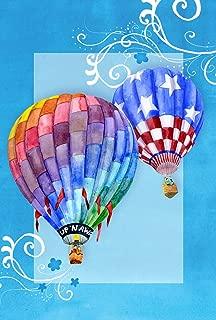 Toland Home Garden Up n Away 12.5 x 18 Inch Decorative Colorful Hot Air Ballon Patriotic Summer Garden Flag