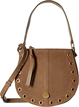 Kriss Small Suede & Leather Hobo Bag
