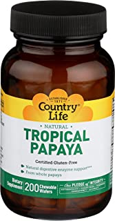 Country Life Natural Tropical Papaya - 200 Chewable Wafers