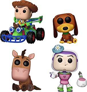 Funko Movies: Pop! Toy Story Collectors Set - Slinky Dog, Mrs. Nesbit, Bullseye, Wood with RC