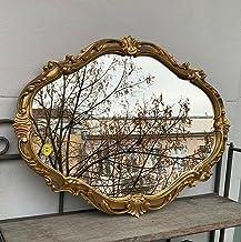 Dekoracyjne barokowe lustro ścienne złote owalne lustro antyk lustro klasyczne lustro łazienkowe 50 x 39 lustro Prunk c26