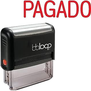 PAGADO Spanish Language - Self-Inking Rubber Stamp by bbloop