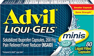Best Advil Liqui-Gels Minis Pain Reliever and Fever Reducer, Ibuprofen 200mg, 80 Count, Fast Pain Relief Review