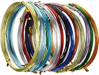 Multi-colored Aluminum Craft Wire, Flexible Metal Wire for Jewelry Making and Various Crafts, Each Roll 16.4 Feet