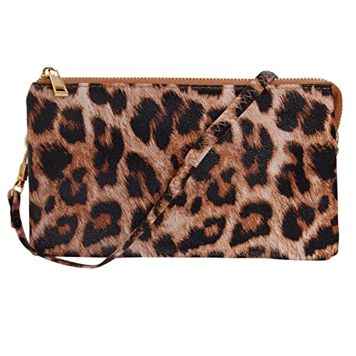 bb5c7be06920 Humble Chic Vegan Leather Small Crossbody Bag or Wristlet Clutch Purse,  Includes Adjustable Shoulder and