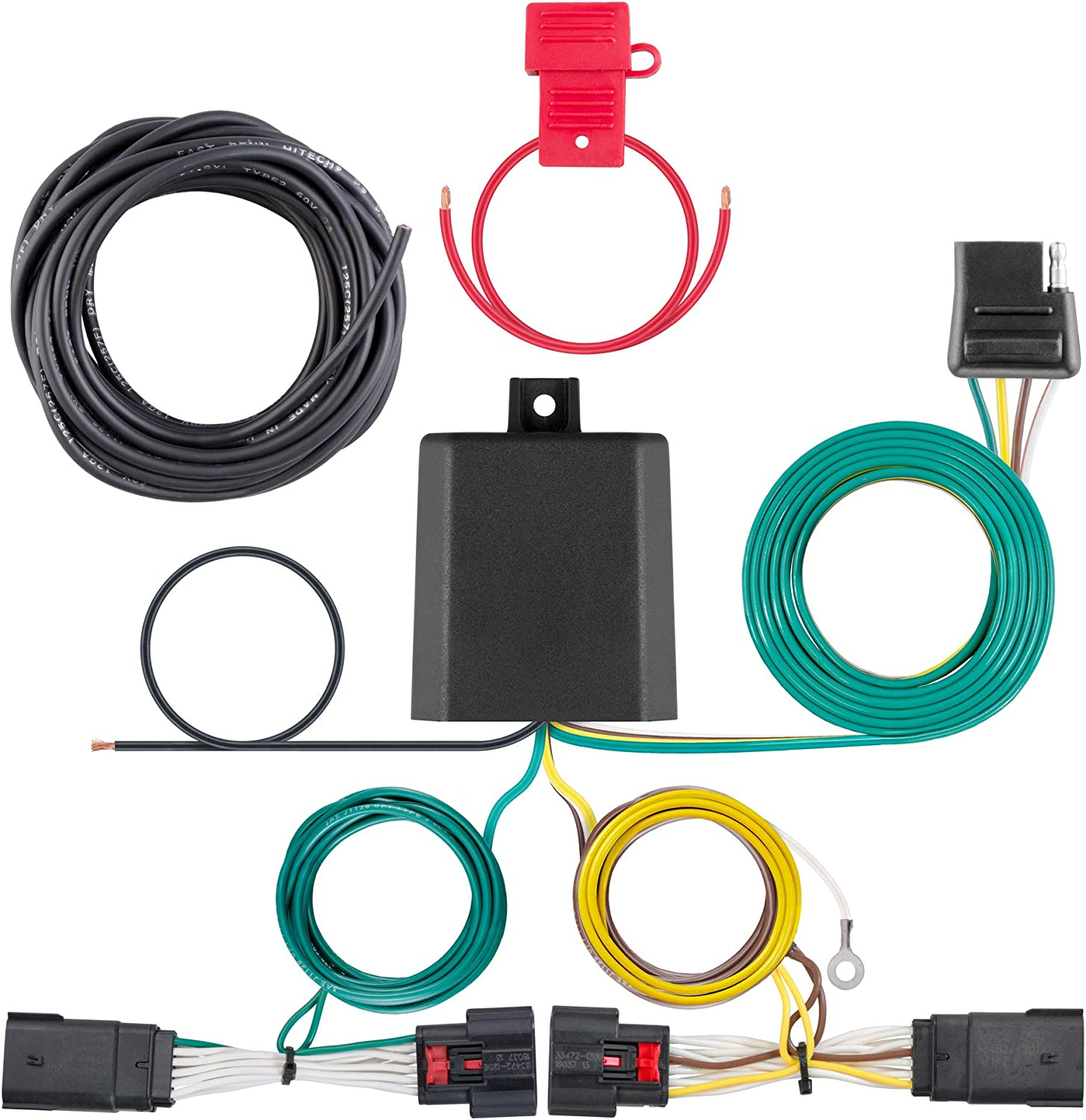 CURT 56407 Vehicle-Side Custom 4-Pin Trailer Wiring Harness, Fit