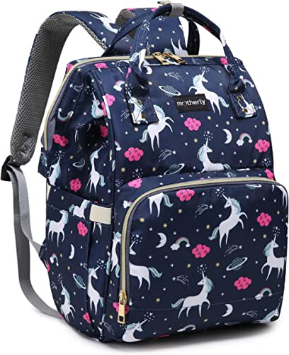 Motherly Baby Diaper Bag, Mothers Maternity Bags for Travel (Unicorn Blue)
