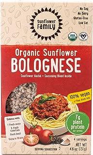 SunflowerFamily Organic Sunflower Bolognese - Plant Based Meat Alternative Ready-To-Cook Meal Kit - Certified USDA Organic, Certified Vegan, Kosher, Gluten-Free