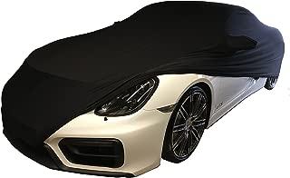 MyCarCover Stretch Soft Cover INDOOR Autoplane Autoabdeckung Auto Car Cover Abdeckplane Schmutzabweisend Autogarage Staubdicht extrem Atmungsaktiv Autodecke Schwarz