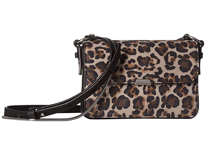 AllSaints  Lepi Mini Flap Crossbody (Leopard) Handbags