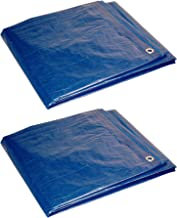 Foremost Dry Top 00057 5 ft x 7 ft Blue Tarp Full Size 7 Mil Poly Tarp - Pack of 2
