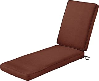 Classic Accessories Montlake Patio FadeSafe Chaise Lounge Cushion, Henna 80