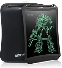 NEWYES 8.5 Inches LCD Writing Tablet Robot Pad Kids Drawing Board Digital Doodle Pad Electronic Drawing Notepad (Black with case)