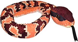 Wild Republic Snake Plush, Stuffed Animal, Plush Toy, Kids Gifts, Pet Snake, Eastern Cottonmouth, 54""