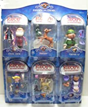 Rudolph The Red-Nosed Reindeer Action Figure 6 pack set: Casual Santa, Rudolph, Foreman Elf, Hermey, Clarice, Mrs Claus