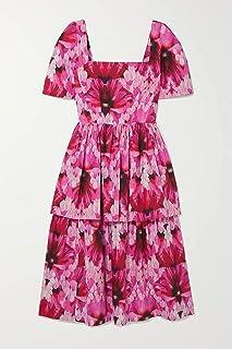 [(アレキサンダー・マックイーン) ALEXANDER MCQUEEN] [ドレス レディース 花柄のコットンポプリンミディドレス Tiered printed midi dress] [並行輸入品]