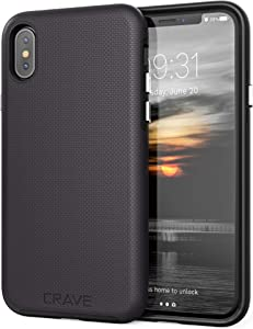Crave Case for iPhone Xs and iPhone X, Dual Guard Protection Series Cover for Apple iPhone X/XS (5.8 Inch) - Black