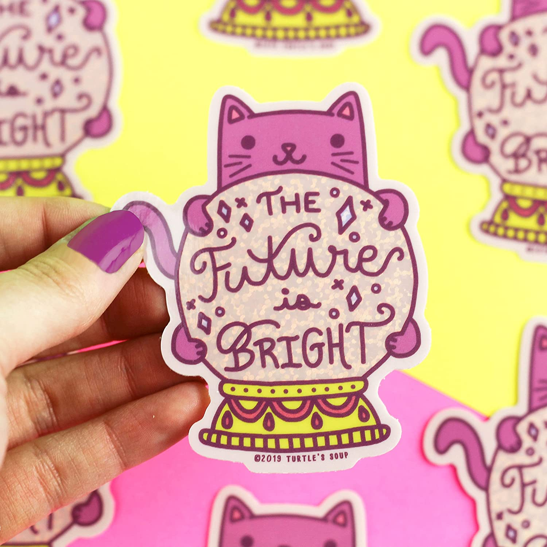 The Future Is Bright Fortune Teller Ball Cat Charlotte Mall Glitt Crystal Tarot Max 57% OFF