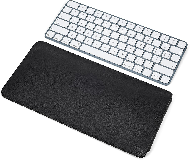 Wireless Magic Keyboard PU Leather Sleeve Case for Apple Wireless Magic Keyboard A2449 A2450 2021 Released/Magic Keyboard 2 MLA22LL/A A1644,Apple iMac 24 inch 2021 Keyboard Accessories-Black