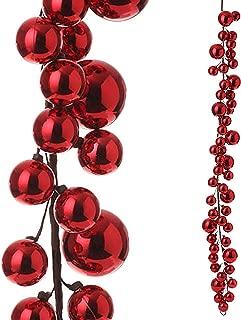 RAZ Imports - 4' Red Christmas Ball Garland