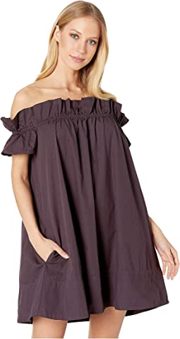 Christin michaels yalena off the shoulder bell sleeve dress, Free
