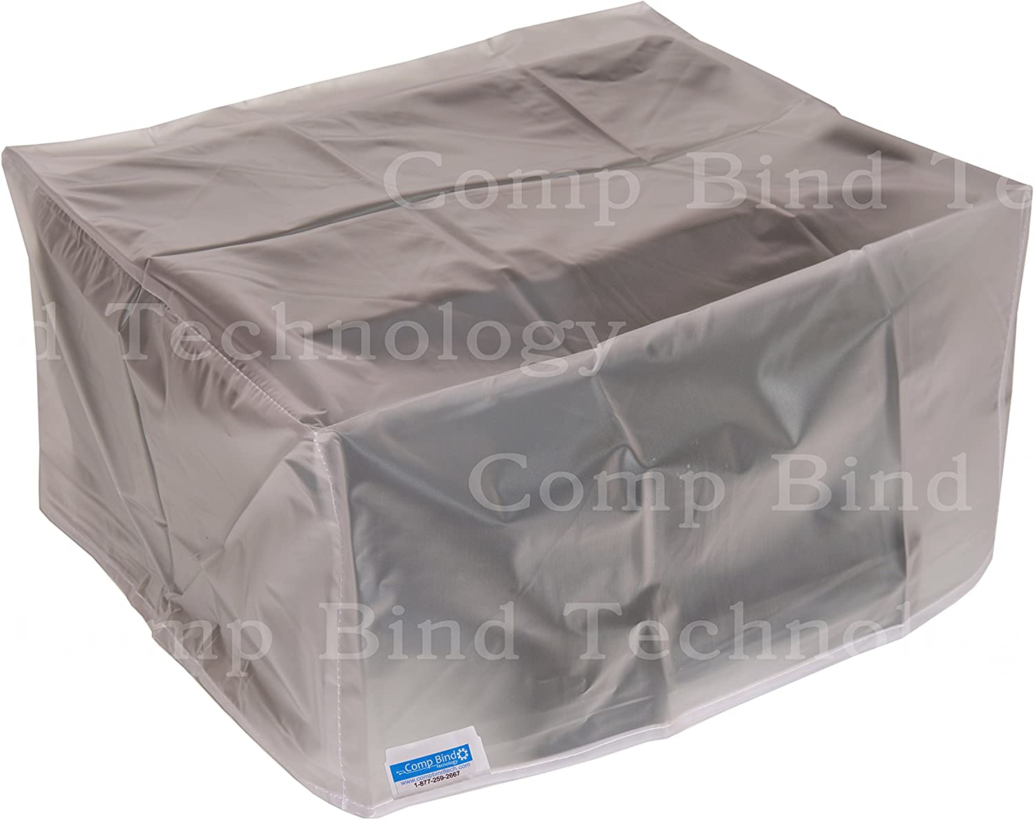 Comp Bind Technology Dust Cover for HP Envy Photo 7855 All-in-One Printer, Clear Vinyl Anti-Static Dust Cover, Dimensions 17.80''W x 16.20''D x 7.50''H