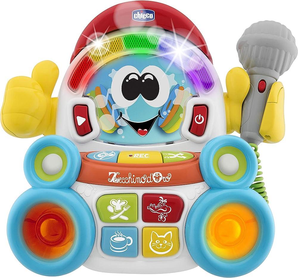Chicco songy il cantante, gioco musicale elettronico, karaoke, 3-6 anni 00009492000000
