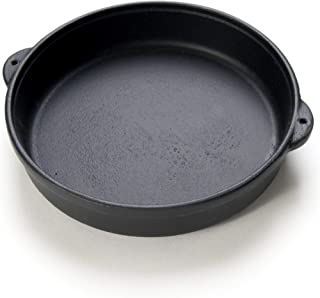 """Cast Iron Round Hot Pot - 23 oz - Black - 6 ¾"""", 1 3/8"""" D; 8 ½"""" w/Handles – Oven, Grill, Campfire, Stovetop & Induction Rea..."""