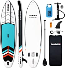 """Sponsored Ad - RANGALii 11' Foot Inflatable SUP Stand Up Paddle Board(32"""" Wide, 6"""" Thick) Durable with Adjustable Paddle, ..."""