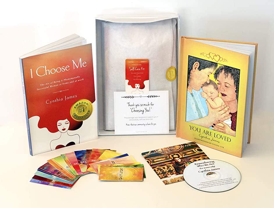 Self Love Books for Women & Self Care Gifts for Women - Best Selling Author, Cynthia James - Gift Box for Women Contains 2 of Cynthia James' Transformational Books, a CD and Set of Self Love Cards.