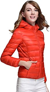 bcdfcf1170a CHERRY CHICK Women s Ultra-Light Down Jacket with Hood (Perfect for Spring    Autumn