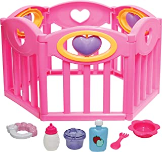 """JC Toys Baby Doll Play Pen Gift Set for Keeps Playtime! Fits Dolls up to 17""""   Adjusts to Different Shapes   Play Accessor..."""