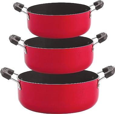 Nirlon Non-Stick Aluminium Cookware Combo Gift Set (CS20_CS26_CS24)