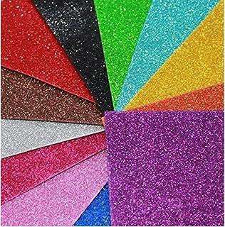 A3 Multicolour Glitter Eva Foam pack of 10 sheets assorted colours