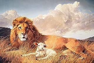 Nancy Glazier PEACE AND HARMONY Lion & Lamb Art CANVAS EDITION
