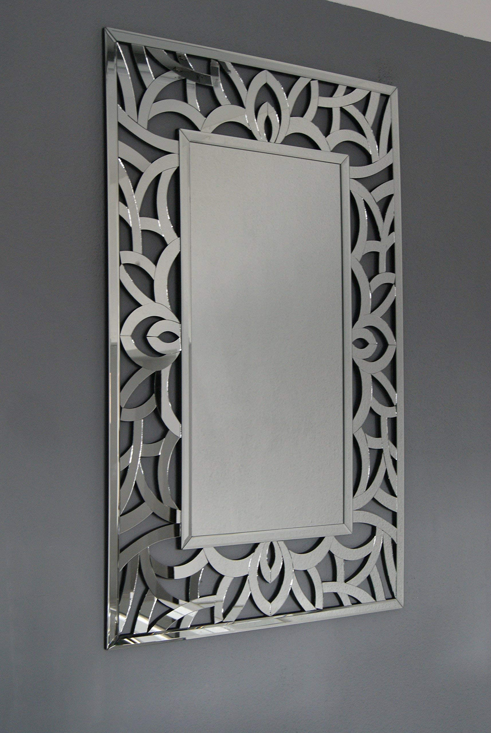 Large Exclusive Modern Swirl Design Venetian Wall Mirror 4ft10 X 2ft5 Amazon Co Uk Kitchen Home