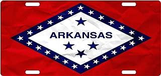 ARKANSAS State Flag Custom License Plate Diamond & Stars Emblem Paper Version #2