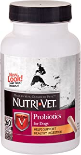 Nutri-Vet Probiotic Capsules for Dogs | Digestive Health Support Dog Probiotics | Give Directly or Sprinkle on Food | 60 C...