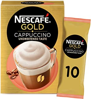 Nescafe Gold Cappuccino Unsweetened Coffee Mix Sachet 14.2g (10 Sachets)