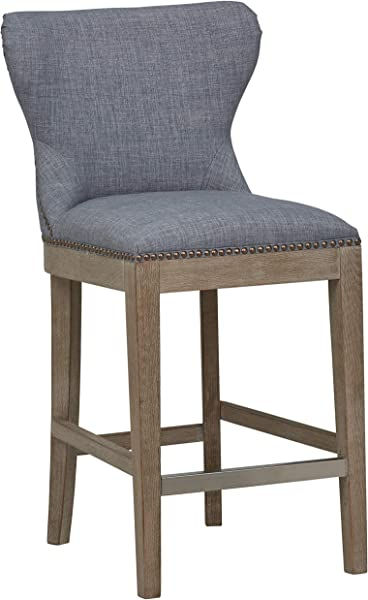 Stone Beam Kinsley Kitchen Counter Height Bar Stool 38 H Washed Denim