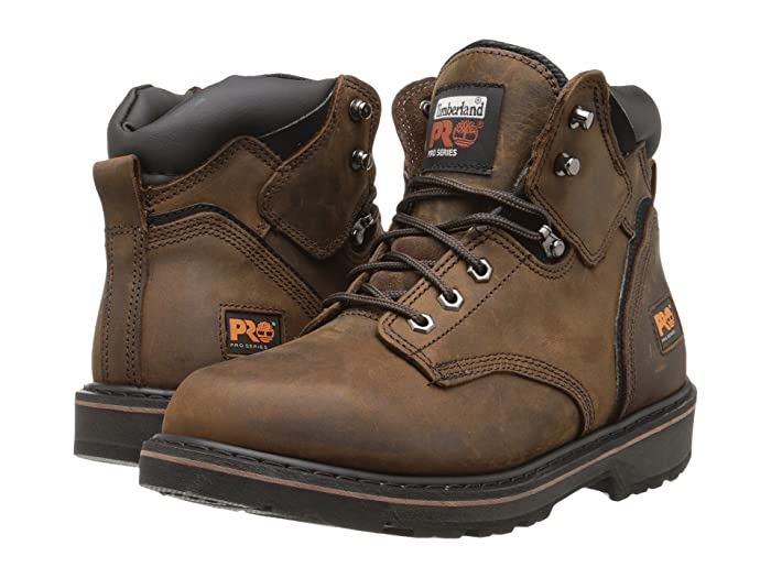 Timberland PRO  6 Pit Boss Soft Toe (Gaucho Oiled Full-Grain Leather) Mens Work Lace-up Boots
