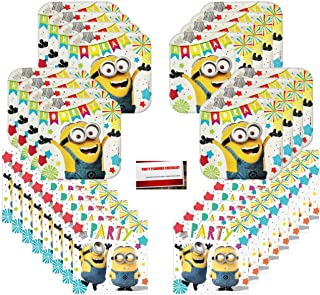 Despicable Me Minions Birthday Party Supplies Bundle Pack for 16 Guests (Plus Party Planning Checklist by Mikes Super Store)