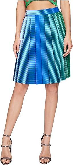 Iridescent Pleated Skirt