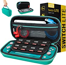 Orzly Case for Nintendo Switch Lite - Portable Travel Carry Case with storage for Switch Lite Games & Accessories [Turquoise Blue Edition]