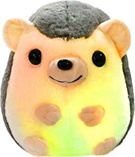 Bstaofy LED Hedgehog Stuffed Animal Glow Small Plush Toy Light up Nightlight Bedtime Gift for Toddlers Kids on Festival Occasions, 10''